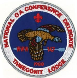 1988 NOAC Back Patch