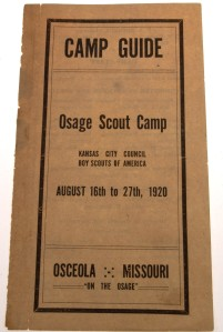 Osage Scout Camp - 1920