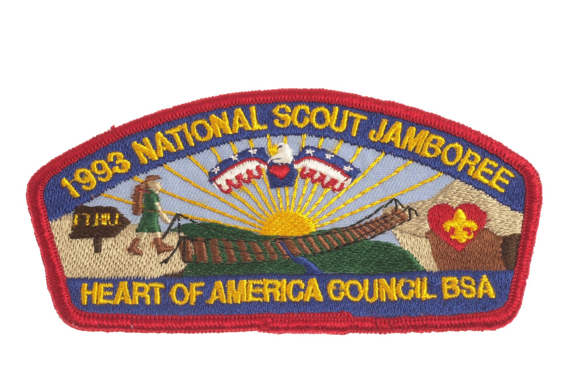 MINT 1985 JSP Mid America Council Yellow Border
